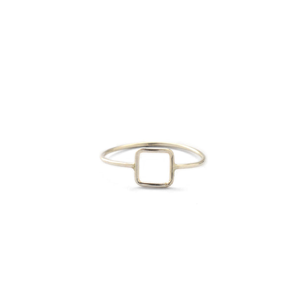Quadro Ring in sterling silver | Fresh Tangerine