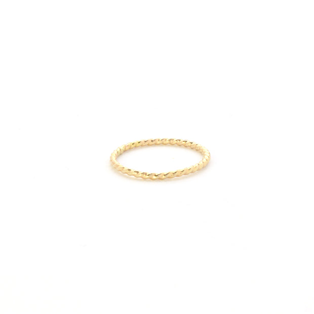Rope Stacking Ring in 14k gold fill | Fresh Tangerine