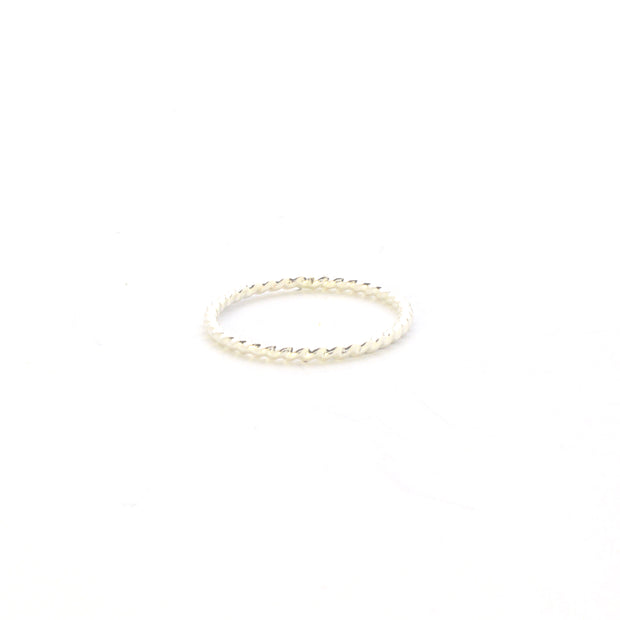 Rope Stacking Ring in sterling silver | Fresh Tangerine