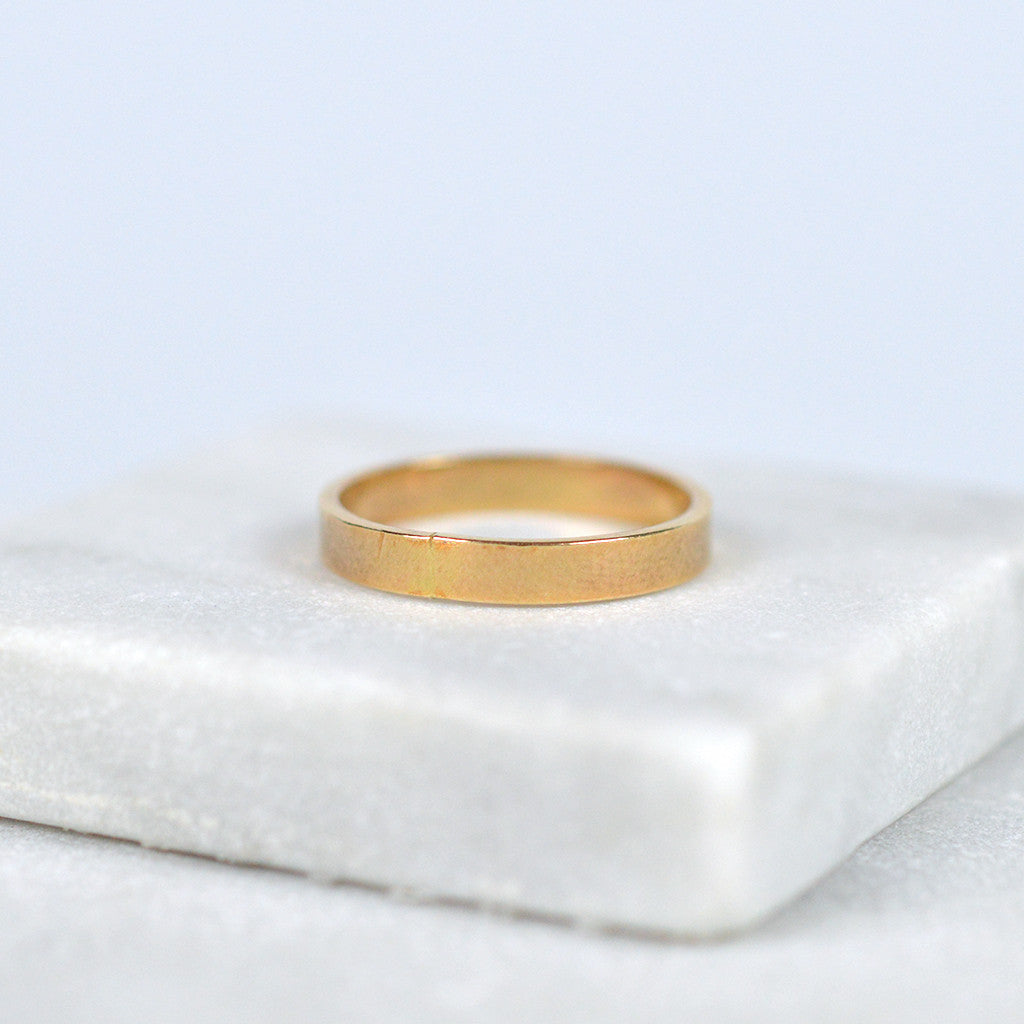stacking ring band gold fill | Fresh Tangerine