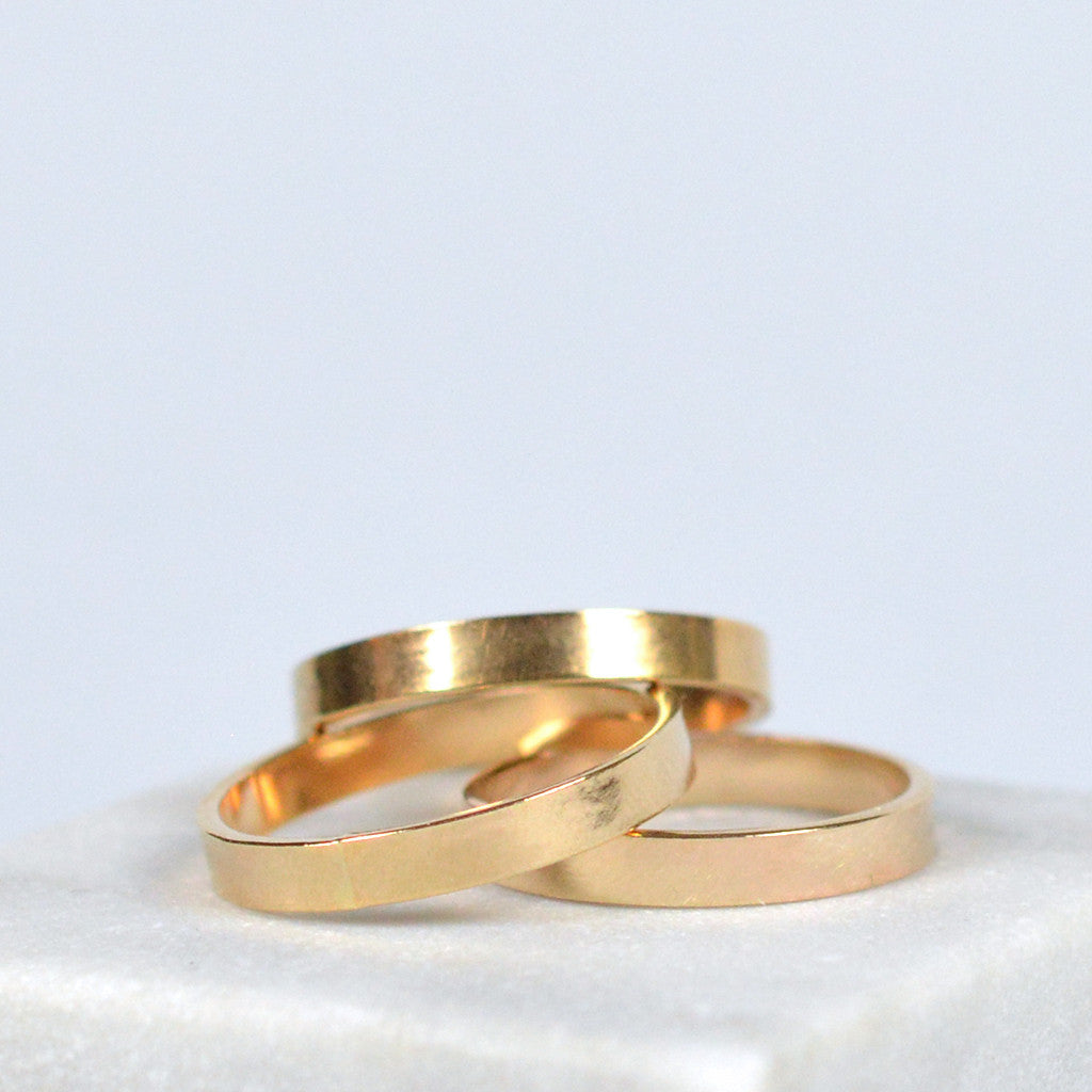 stacking band 14k gold fill | Fresh Tangerine