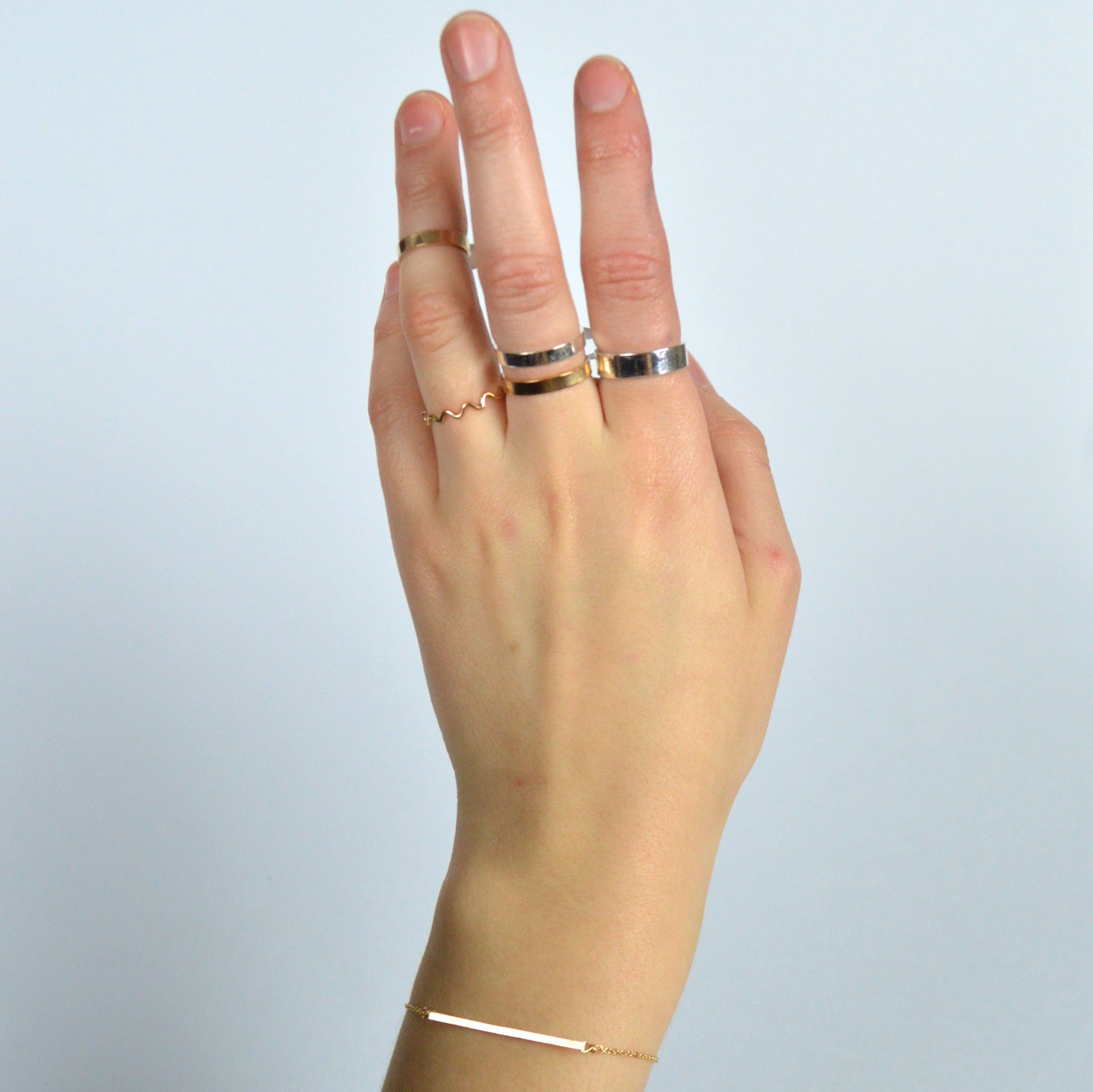 thick stacking ring band | Fresh Tangerine