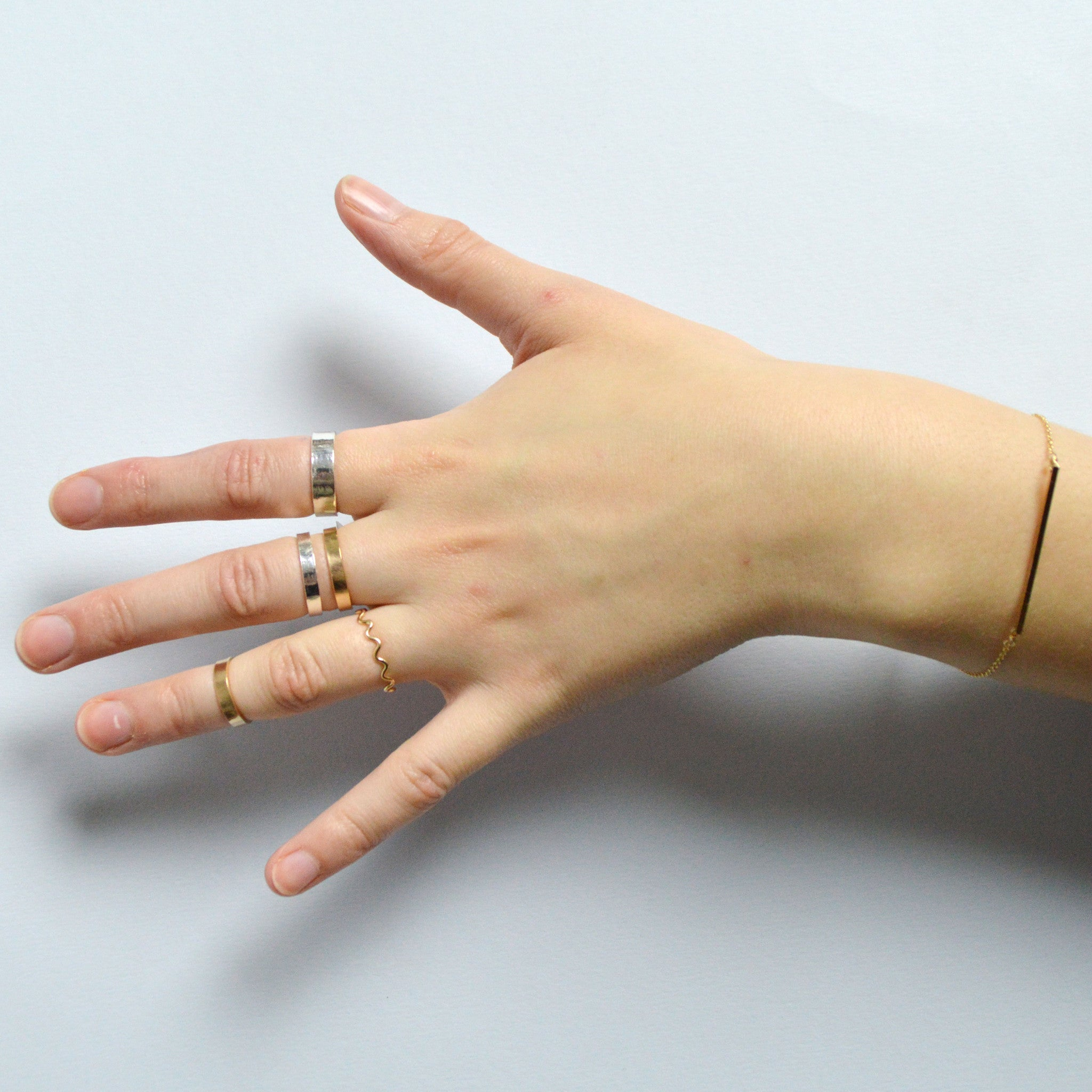 handmade stacking ring band | Fresh Tangerine