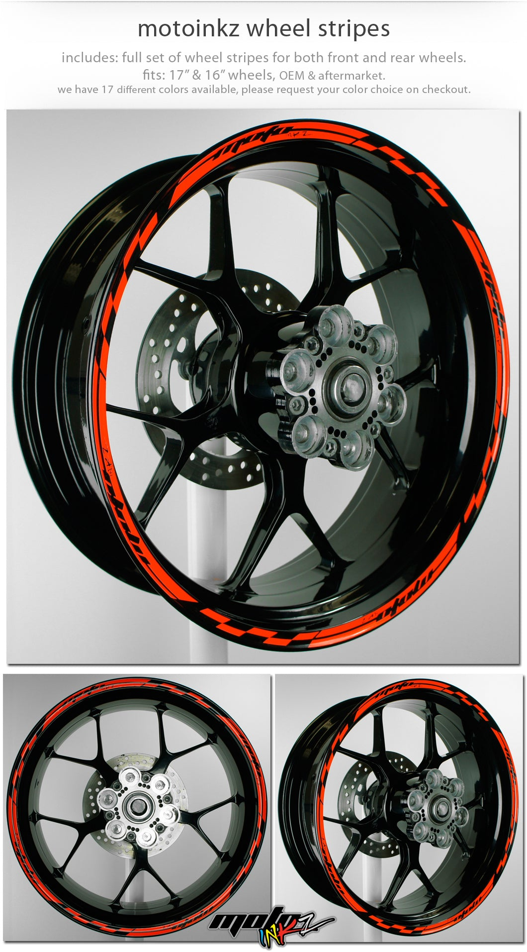 Details about wheel rim stripes tape decals yamaha r1 r6 fz yzf r3 17 16 15 14 18 19 stickers
