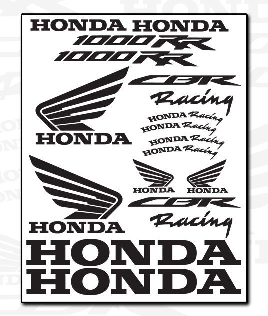 HONDA Decal Sheet