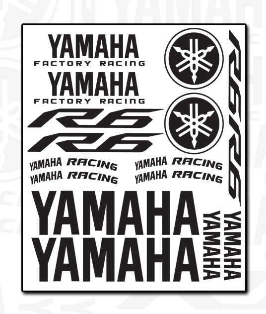 YAMAHA Decal Sheet