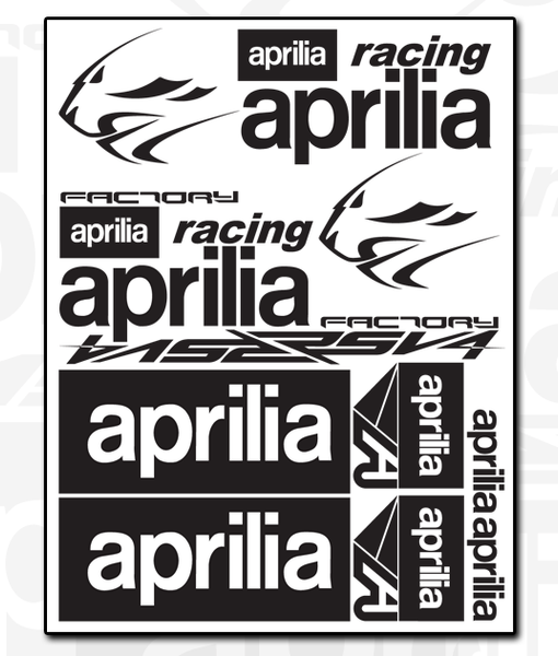 aprilia Decal Sheet