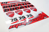 Universal DUCATI Sticker Sheet