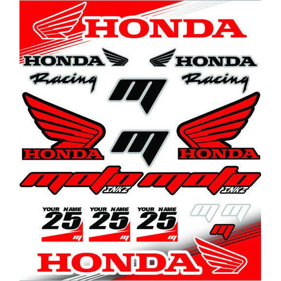 Universal HONDA Sticker Sheet
