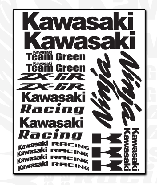 Kawasaki Decal Sheet