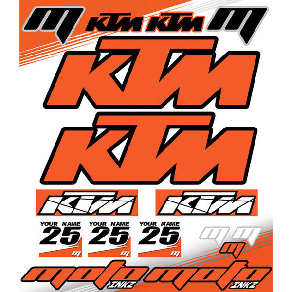 Universal KTM Sticker Sheet