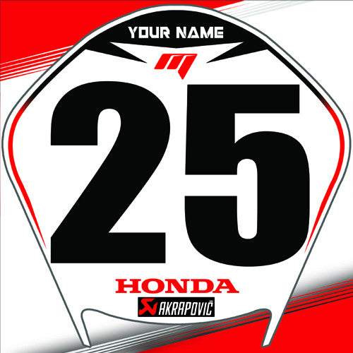 Car Racing Number Plates