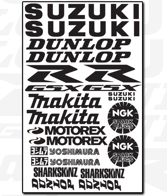 SUZUKI Decal Set 1