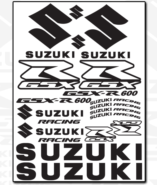 SUZUKI Decal Sheet