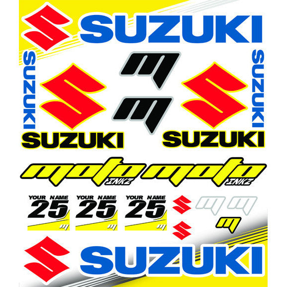Universal SUZUKI Sticker Sheet