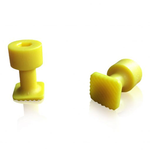 LAKA 12mm Square Yellow Hail Tabs 5-Pack