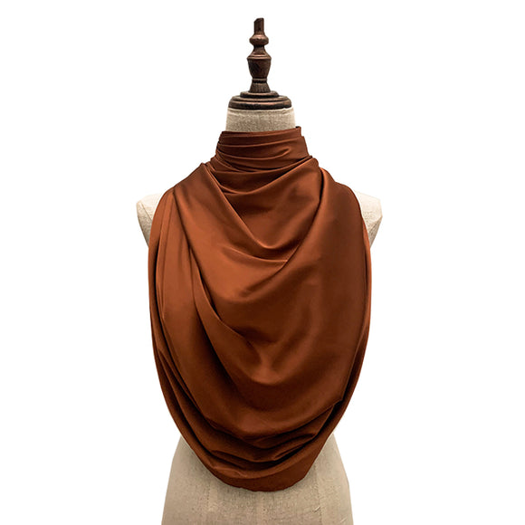 Luxe Satin Silk Lush - Cinnamon Brown