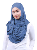 Arissa Cotton Shawl - Dusty Blue