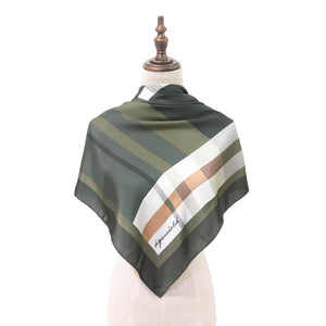 Pelikat Melati Square Shawl in Green