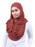 Arissa Cotton Shawl - Brick Red