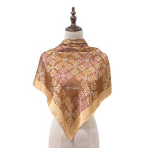 Songket Melur Square Shawl in Bronze