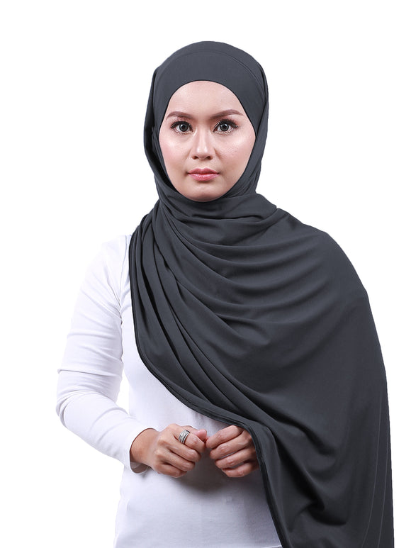 Arissa Cotton Shawl - Dark Grey