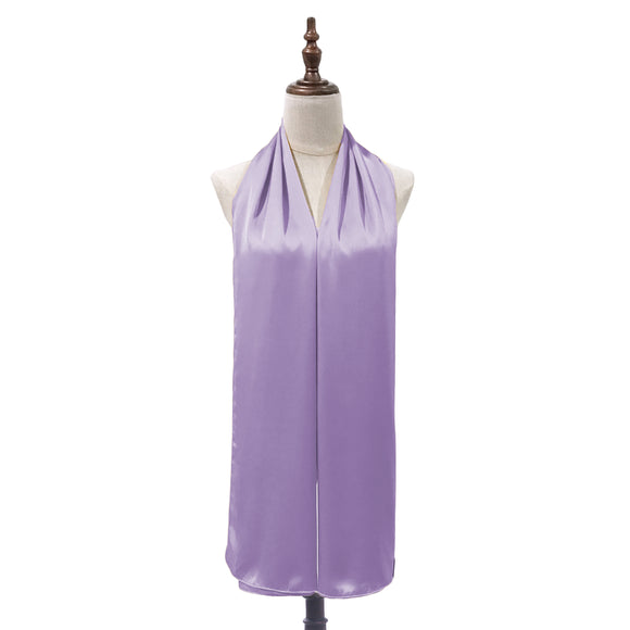 Luxe Satin Silk Shawl in Lilac