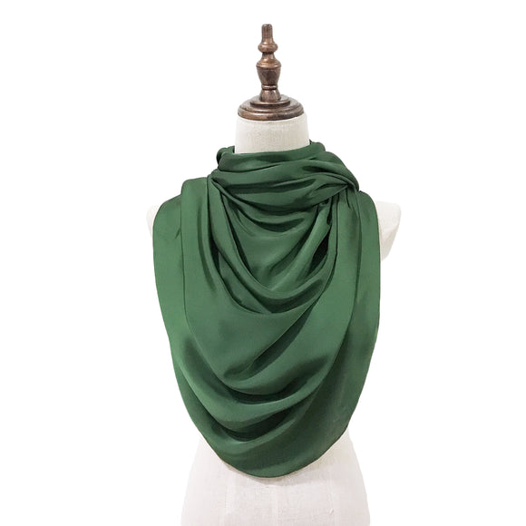 Luxe Satin Silk Lush in Emerald Green