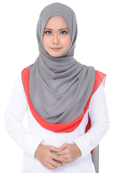 Two Tone Shawl - Grey