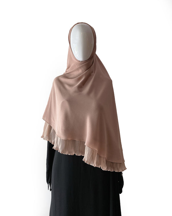 Khimar with Pleats - Nude
