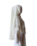 Khimar with Pleats - Off White