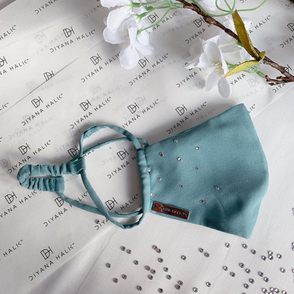 Dainty Face Mask - Teal