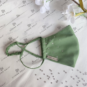 Dainty Face Mask - Olive Green
