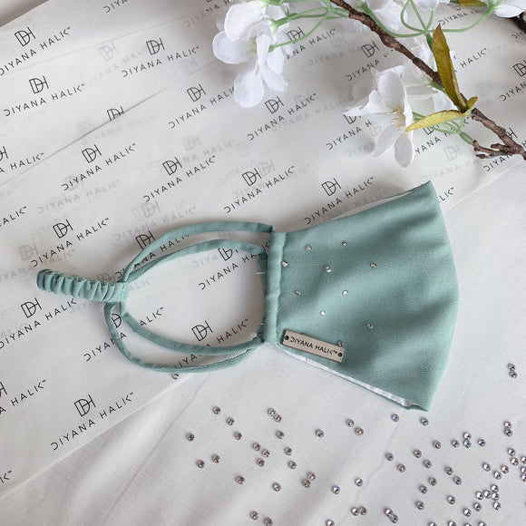 Dainty Face Mask - Mint Green