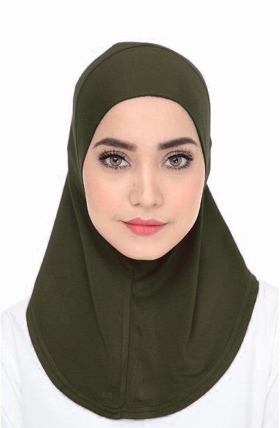 Scarf Inner - Olive Green