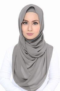 Lush Chiffon - Light Grey