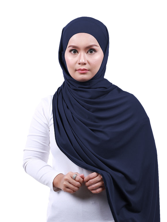 Arissa Cotton Shawl - Navy Blue