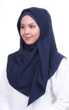 Instant Square Crepe - Navy Blue