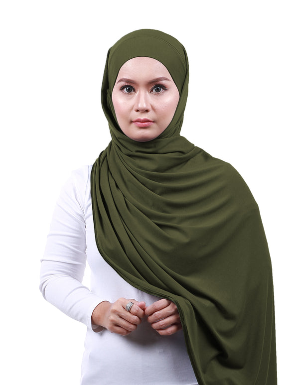 Arissa Cotton Shawl - Olive Green