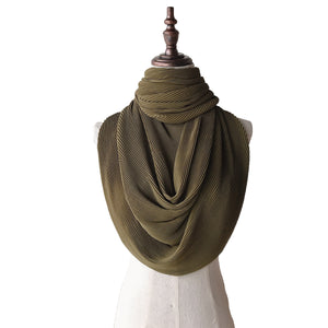 Lush Pleats - Olive Green