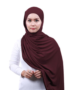 Arissa Cotton Shawl - Plum