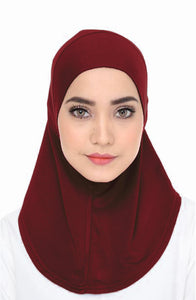 Scarf Inner - Dark Red