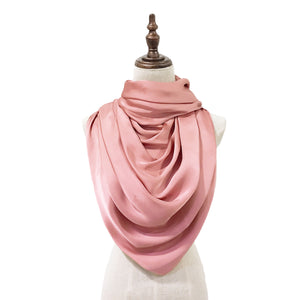 Luxe Satin Silk Lush in Peach Pink