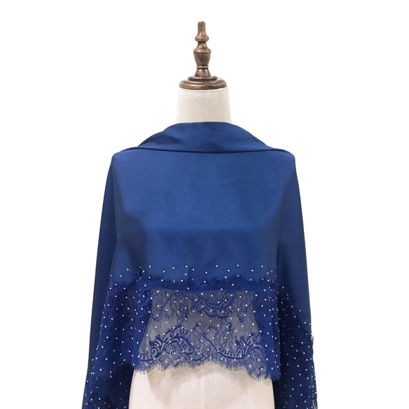 [PRE ORDER] Luxe Lace Shawl in Royal Blue