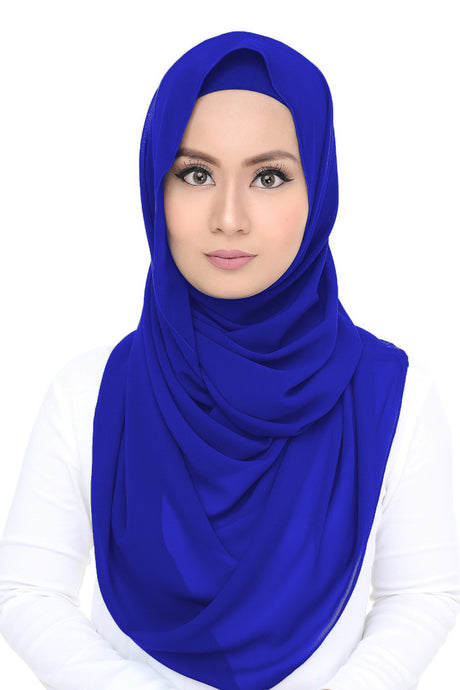 Lush Chiffon - Royal Blue