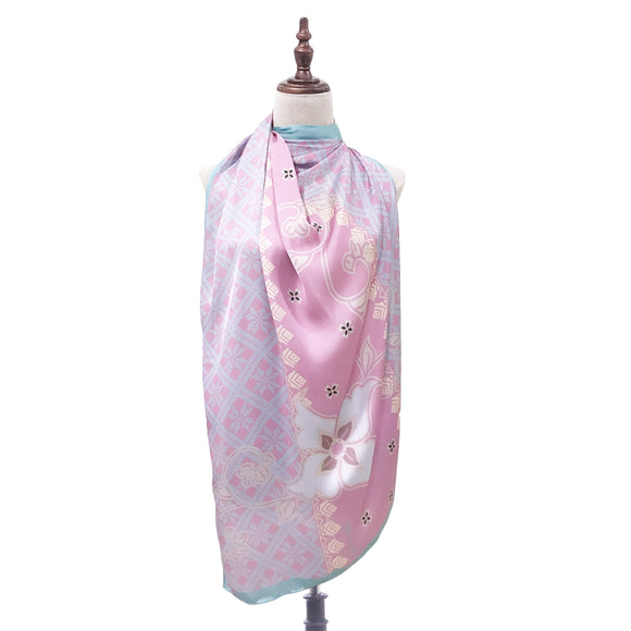 Batik Saloma Shawl in Soft Pink