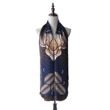 Batik Dewi Shawl in Navy Blue