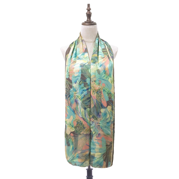 Printed Shawl - Camo Tropical in Emberglow