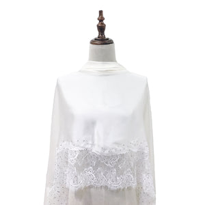 [PRE ORDER] Luxe Lace Shawl in Snow White