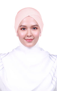 Snow Cap Tie Back Inner - Soft Peach (Cross Awning)